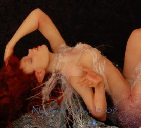 Sculpted 7' fairy Amrise by polymer-people