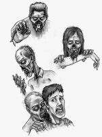 Zombies Chowing Down by Hamdoggz