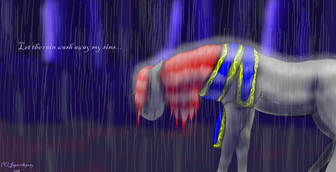Let the rain wash away my sins by jasperthepony
