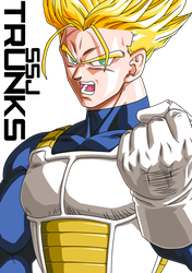 Trunks SSJ by DBZArtist94