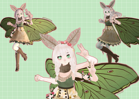[ mmd ] finished model || spanish moon moth by aeriiie