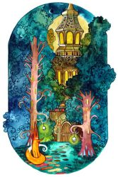 Forest Lighthouse by yanadhyana