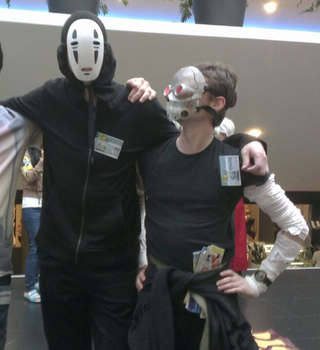 animecon 2015 no face and deathgun by RikRedwolf