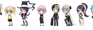 Soul Eater Chibis by NevynS