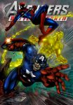 Marcio Spiderman Torch Captain America Colors by Ta2dsoul