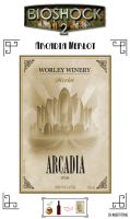 Arcadia Merlot label by Whatpayne