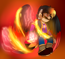 Blood Vortex Fire Fusion by BaconBloodFire