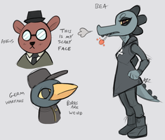 Night in the Woods sketches by RunicKnight