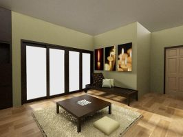 living room interior 2 by dandygray