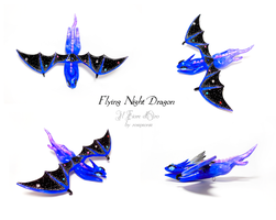 Flying Night Dragon by rosepeonie