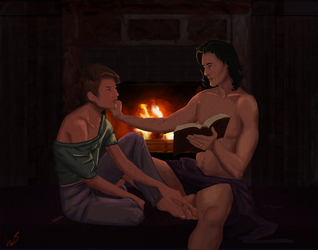 An Evening with Eve and Roarke by wendystolyarov