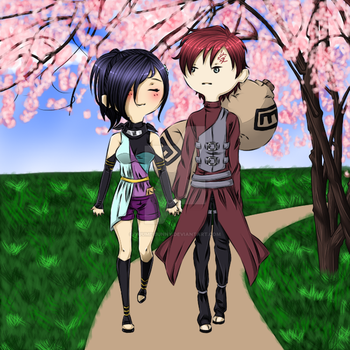 Gaara and Aika by YuumeiBunny