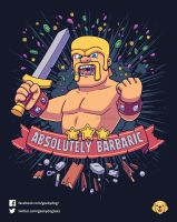 Absolutely Barbaric // Vote it on Qwertee!! by Geekydog