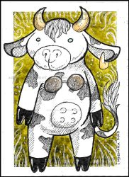 ACEO Coconutcow by LadyFromEast