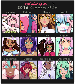 2016 Summary of Art by evilkingrin