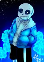 Undertale Sans by River-Moei