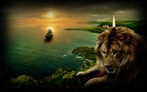 Lion coast by Cleo-Bizarre