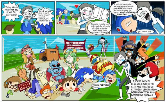 Super Smash Bros 4- Wii fit boot camp by xeternalflamebryx