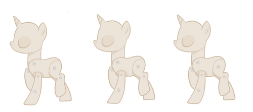 Poseable pony mannequin by wolflover7948