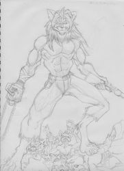 Hail to the King, Baby-sketch- by JackAllan