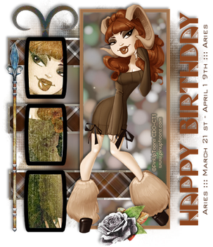 PinUp Toons - Happy Birthday Aries by CreativeDesignOutlet