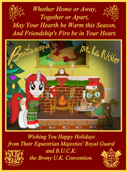 Ask Britannia Hearth's Warming Card by AskBritanniaMLP