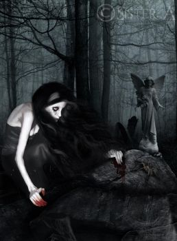 The Mourner by EnslavementOfBeauty