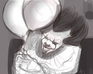 Pennywise Sketch by FurKingHell