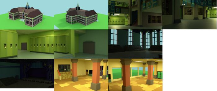work on the canterlot school in the process by borickrut