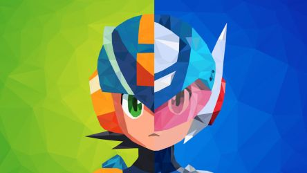 Battle Network vs Star Force Low Poly Art by giftmones