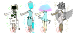 Aesthetic Magical Girl Object heads (CLOSED) by Emptyproxy