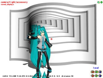 MMD Curved Screen Capture Display BETA by Trackdancer