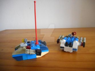Two Microscale Lego Land Raiders by S7alker117
