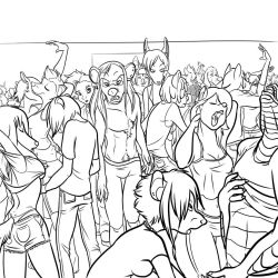 Lineart- Boys Hit the Rave by ThirdPotato