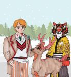 Request: 5th Doctor + Tigress + stag Bambi by i77310