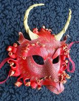 Fire Dragon Mask Two by merimask