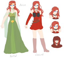 Official Auiun Reference by PalePastels