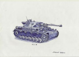 WW2 Pzkpfw IV German Medium Tank by CptSky