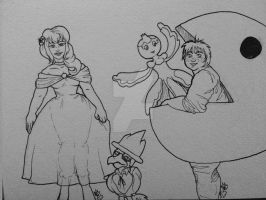 InkTober Day 27 Dress-up  by lonesome-wolf-child
