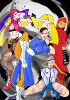 Chun-li and the Girlz 2 by Mawnbak