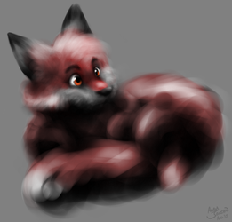 Fluffy Foxball by Acru