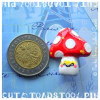 COMMISSION - Toadstool pin by yuki-the-vampire