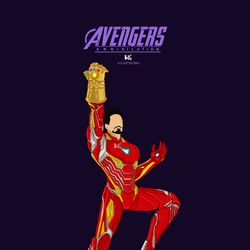 Ironman With Infinity Gauntlet by Hkartworks99