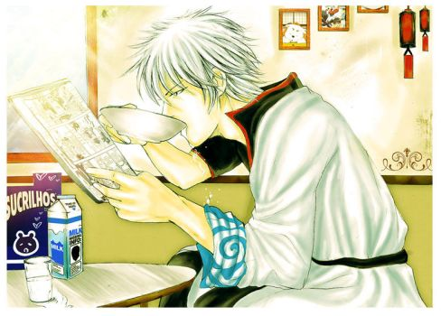 Sakata Gintoki - Breakfast by sukanne