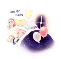 Happy 25th Birthday Kirby by PaperLillie