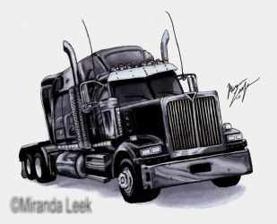 Semi Truck by RedCoaster
