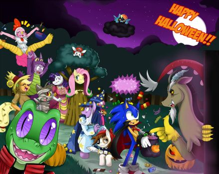 SonicxMLP: Trick or Treat by ss2sonic