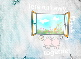 lets run awy together. by skykeys