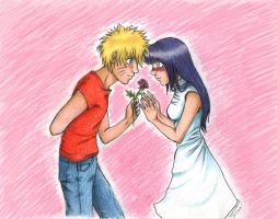 NaruHina: This Rose is For You by Lumi-Icetar