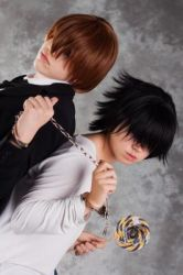 L and Light cosplay from Death Note by riksuraksupoksu